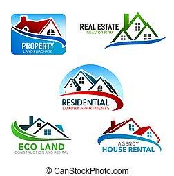 Casa, casas con techos de Mansard, ventanas