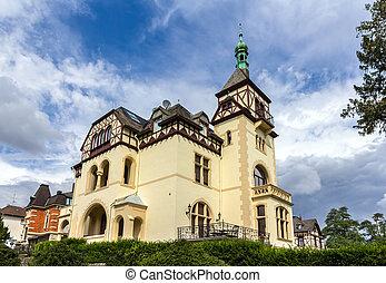 Casa clásica alemana en Koblenz, Alemania