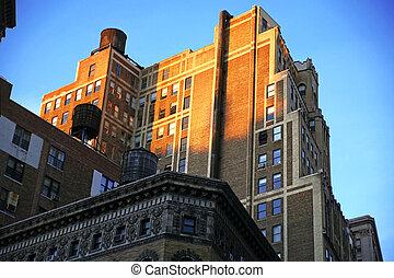 Casa clásica de Nueva York, Manhattan