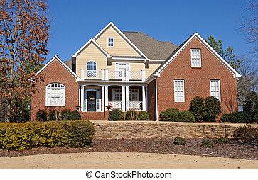 casa, costumbre, construido, nuevo