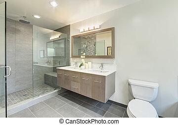 casa, cuarto de baño, lujo, servicio