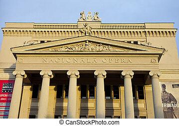 casa de ópera, nacional, riga, letón