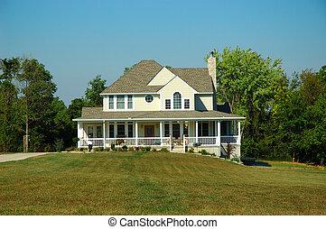 Casa de campo en verano