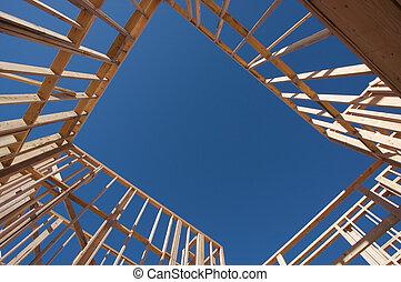Casa de construcción.
