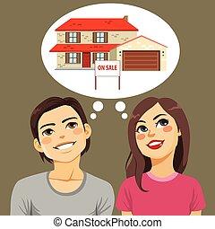 Casa de pensar pareja