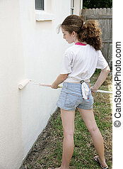 Casa de pintura adolescente