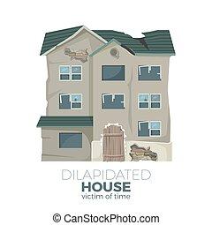 Casa destruida como víctima del poster promocional del tiempo