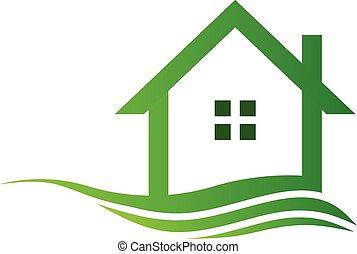 Casa ecológica verde