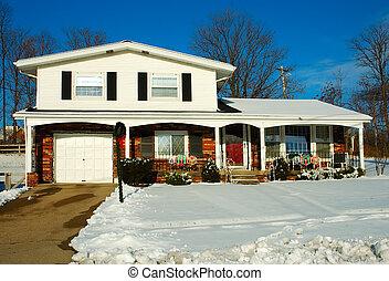 Casa en invierno