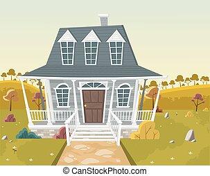 Casa en los suburbios.