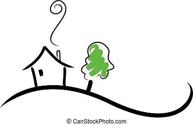 Casa en una colina