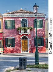 Casa escénica en la isla de Burano