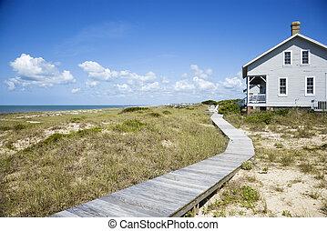 Casa frente a la playa.