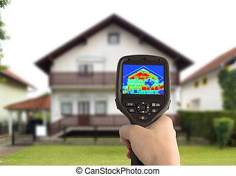 casa, imagen térmica
