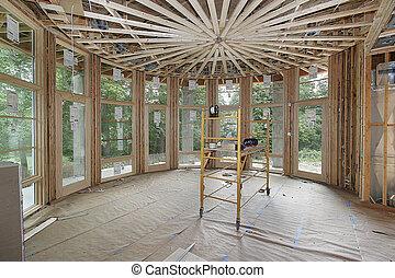 Casa lujosa en construcción