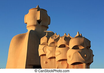 Casa mila (La pedrera) en Barcelona