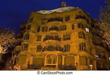 Casa mila pedrera, bacelona, España