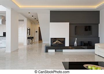 casa, moderno, diseño, minimalistic