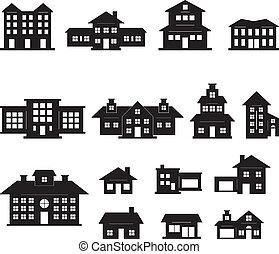 Casa negra y blanca set 2