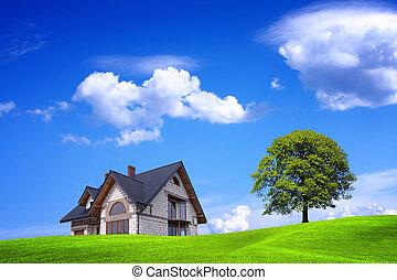 Casa nueva y ambiente verde