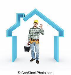 casa, reparación