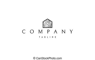 casa, structure., logotipo, imagen, silueta, vector, árbol, resumen