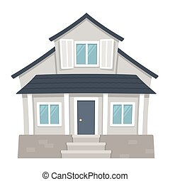 casa, suburbano, clásico