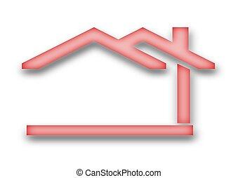 casa, tejadode dos aguas
