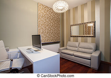 Casa Travertina, oficina moderna