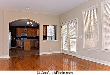 casa, ventana, remodeled, persianas