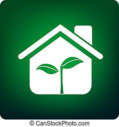 casa, verde