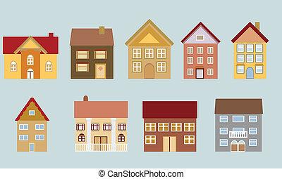 Casas con diferentes arquitecturas