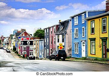Casas de color en St. John