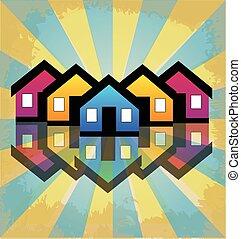 Casas de condominios inmobiliarios