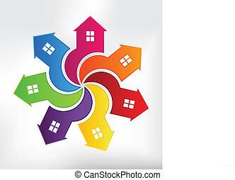 Casas de logotipo moderno