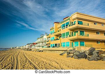 Casas de playa en Imperial Beach, California.