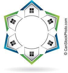 Casas en círculos