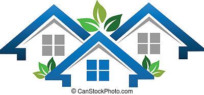 Casas para el logo de la compañía inmobiliaria