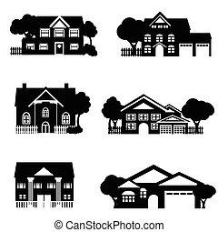 casas, sola familia