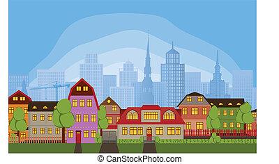 Casas vecinas