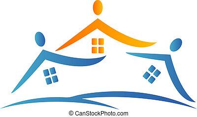 Casas y equipo logotipo