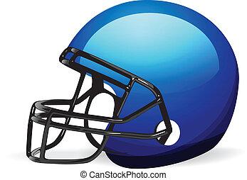 casco de fútbol en blanco