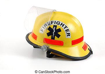 casco, fuego