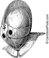 Casco Gladiador de grabados de Galea