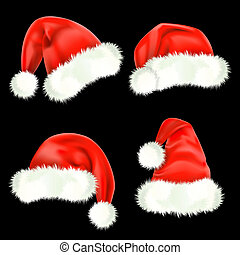 Cascos de Santa Claus. Mesh.