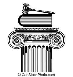 caso, ley, prevailing