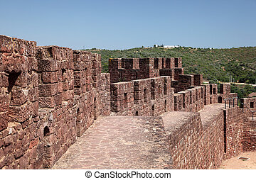 Castillo antiguo en Silves, algarve portugal
