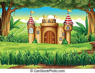 castillo, bosque
