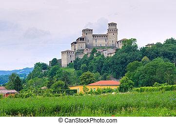 Castillo de Torrechiara. Emilia-romagna. Italia.