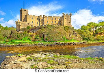 castillo, dunvegan, paisaje